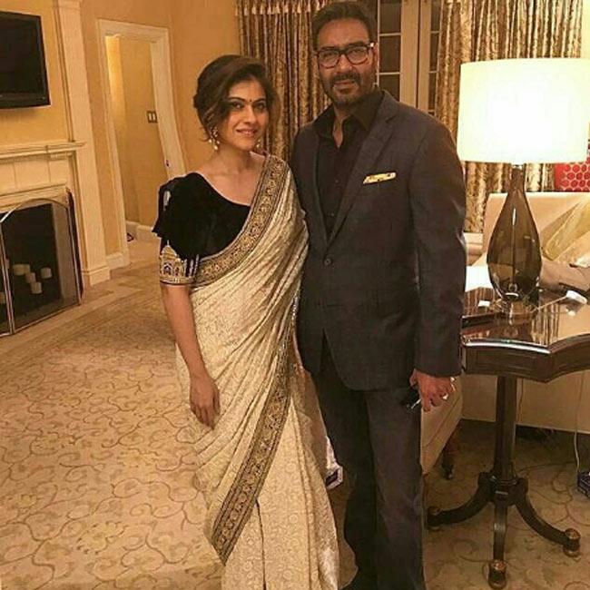 Kajol with husband Ajay Devgn at Facebook headquarters