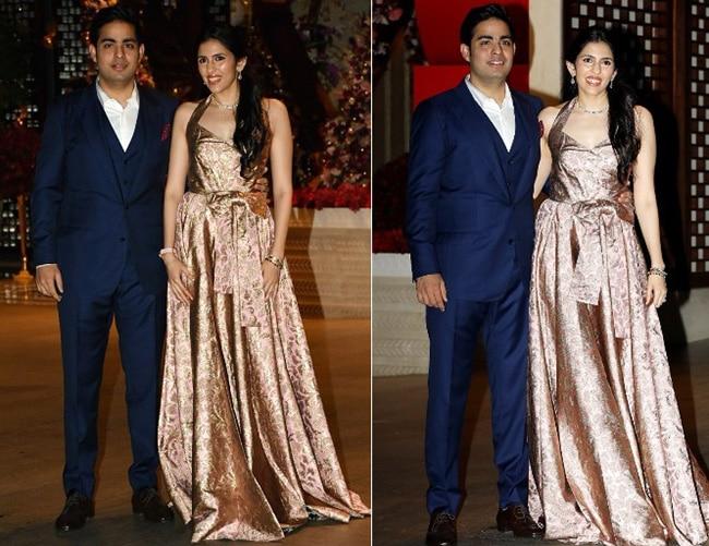 Akash Ambani and Shloka Mehta at their engagement party