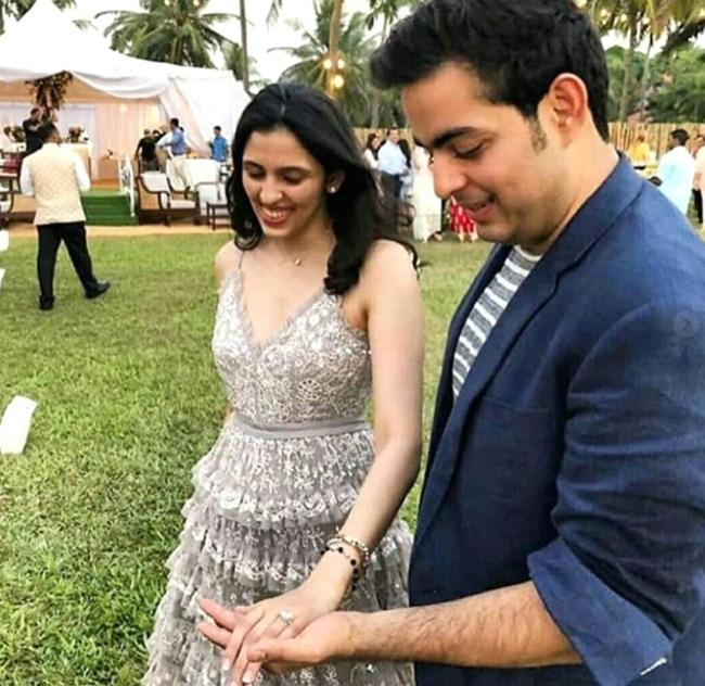 Akash Ambani and Shloka Mehta   s engagement picture