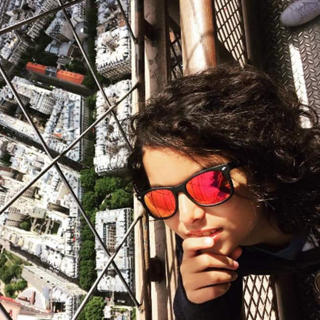 Akira Akhtar   s selfie from top of Eiffel Tower