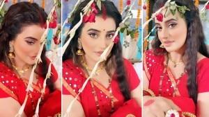 Bhojpuri Sizzler Akshara Singh Dolls Up As Newlywed Bride, Looks Red Hot | See Photos