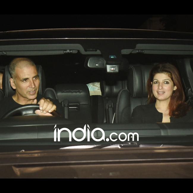 Akshay Kumar and Twinkle Khanna at special screening of Padman