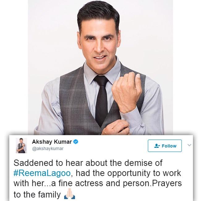 Akshay Kumar tweets to mourn the death of Reema Lagoo