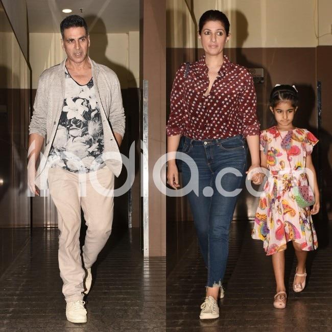 Akshay Kumar  Twinkle Khanna and Nitara spotted