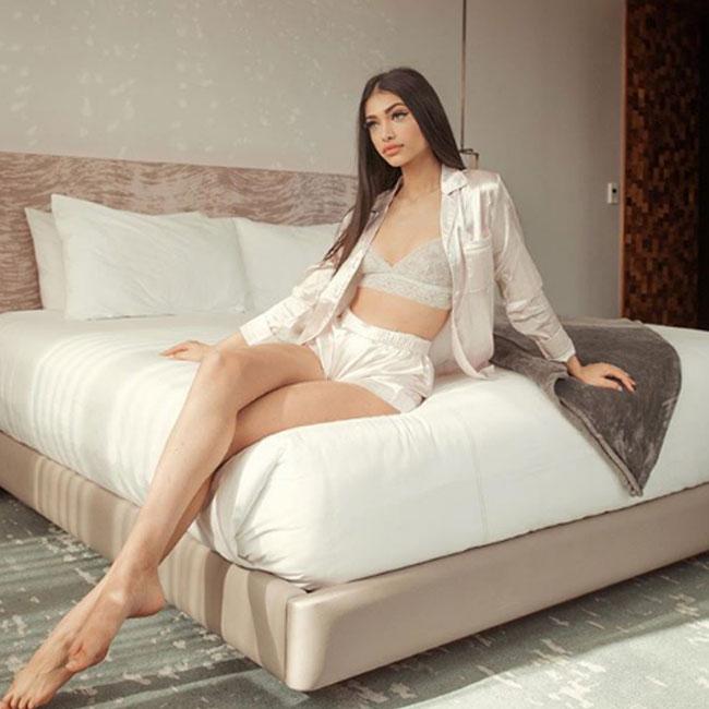Alanna Panday in Silk Niight Dress