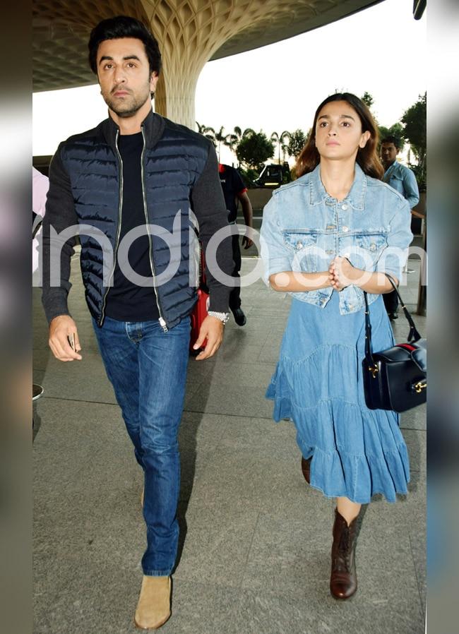 Alia Bhatt and Ranbir Kapoor clicked