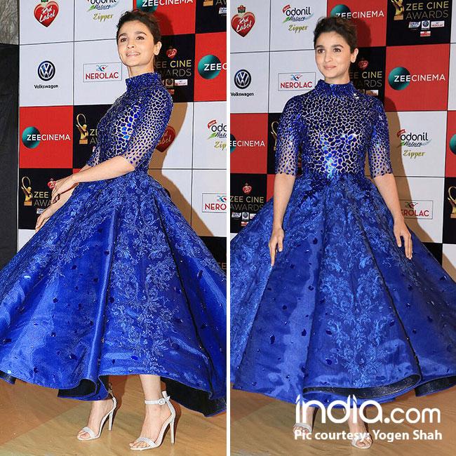 Alia Bhatt at red carpet of Zee Cine Awards 2018