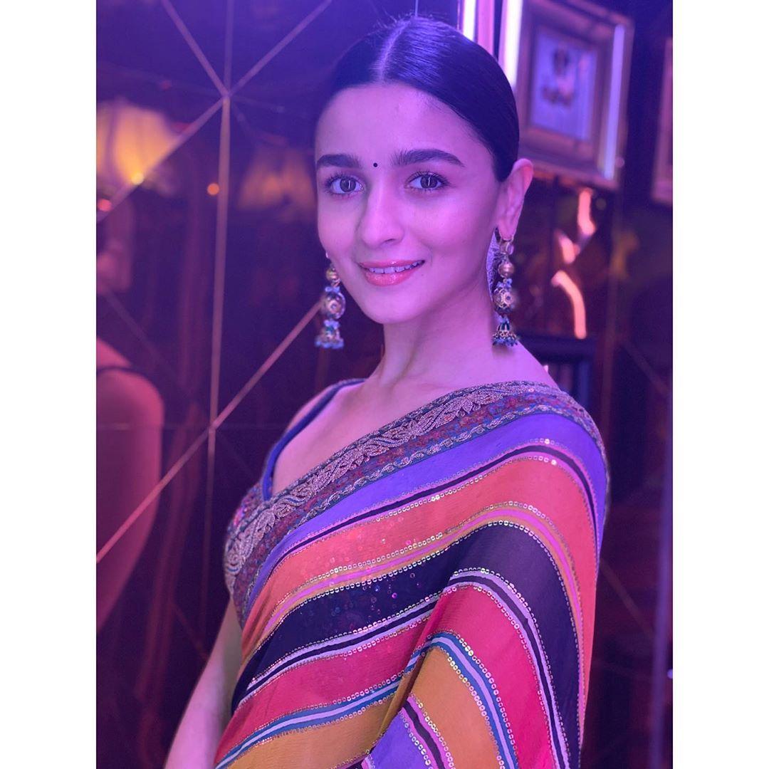 Alia Bhatt Makes Style Statement in Elegant saree