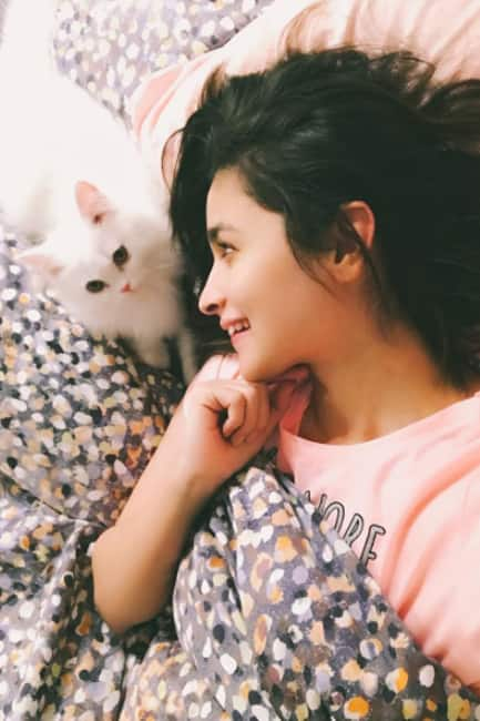 Alia Bhatt with her cute cat Edward
