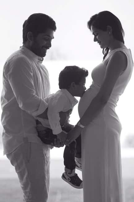 Allu Arjun and Sneha Reddy announcing arrival of their second child