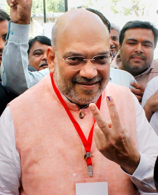 Amit Shah Casts Vote in Ahmedabad