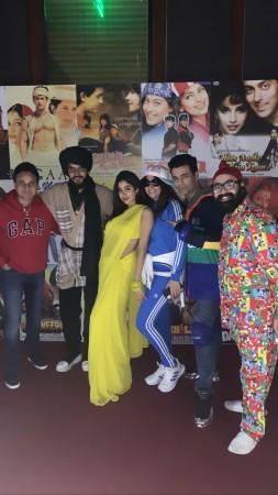 Photos: Janhvi Kapoor Rocks Sridevi's Yellow Saree Look From Chandni at 90s Bollywood-Themed Party