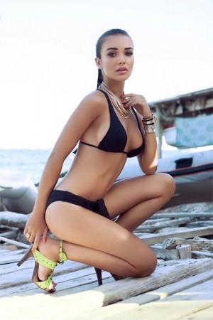 Amy Jackson bikini and swimwear pictures
