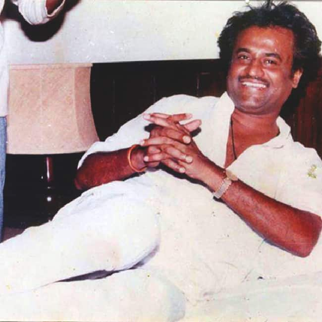 An old pic of young Rajinikanth where he can be seen wearing a calm and composed look