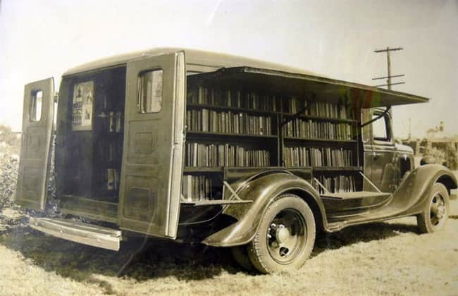 An Opened Bookmobile  1925