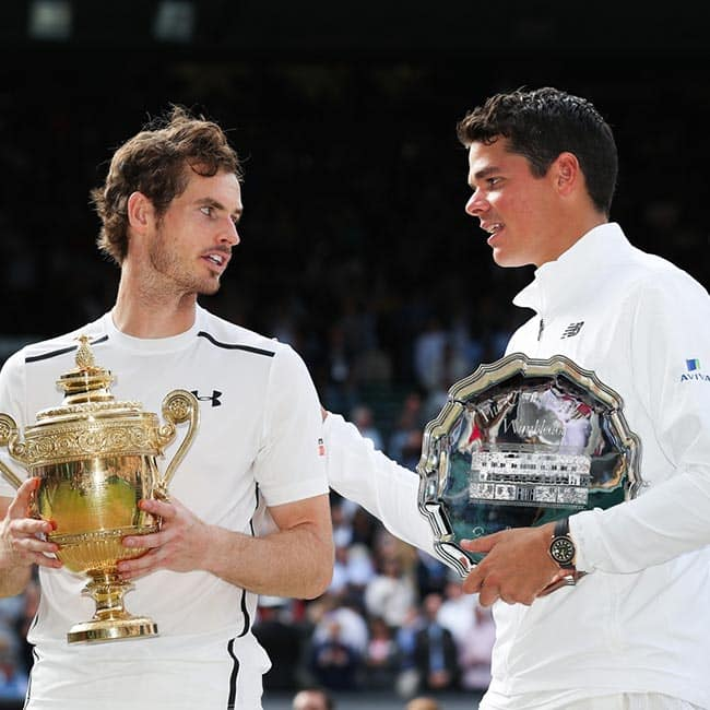 Andy Murray and Milos Raonic clicked after Wimbledon 2016 Men   s Singles finals ended