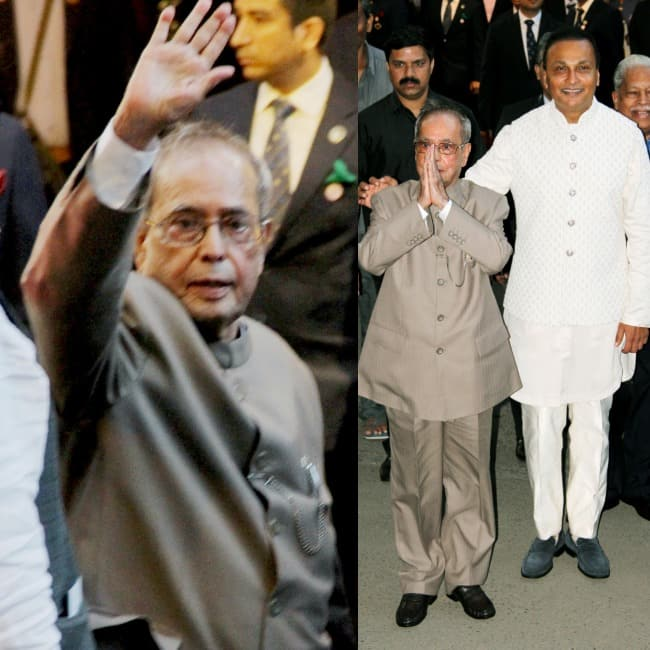 Anil Ambani welcomes former President of India Pranab Mukherjee