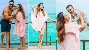 Anita Hassanandani-Hubby Rohit Reddy's Maldives Vacation Pictures With Son Aaravv Are Aww-Dorable
