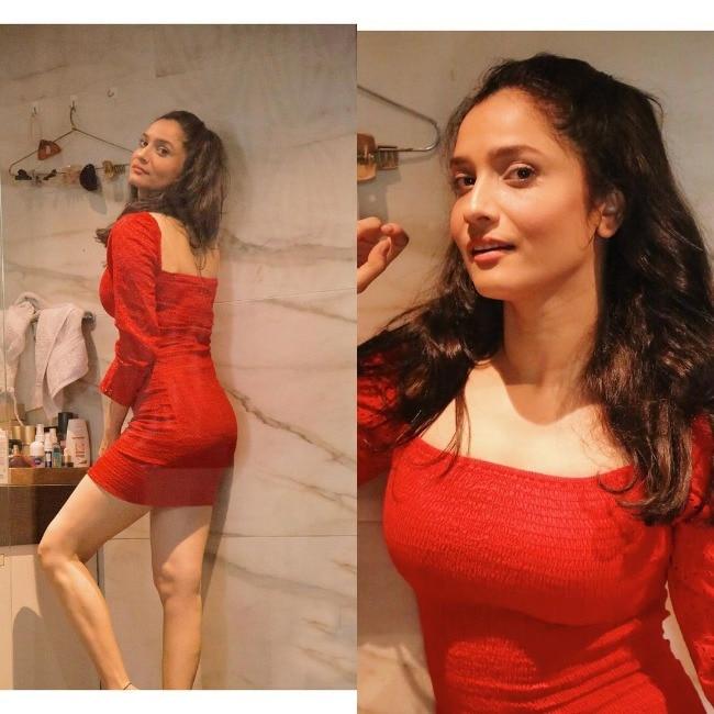Ankita Lokhande Dolls Up In Little Red Dress