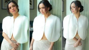Ankita Lokhande Is A Sensuous Beauty In Stylish White Cape Top-Shimmery Silver Pants   See Hot Pics