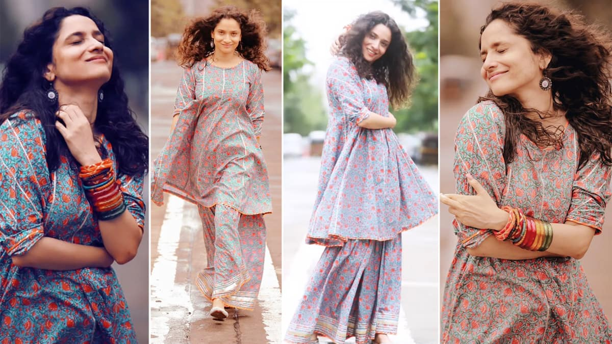 Ankita Lokhande loves walking on the streets of Mumbai  looks pretty in printed suit