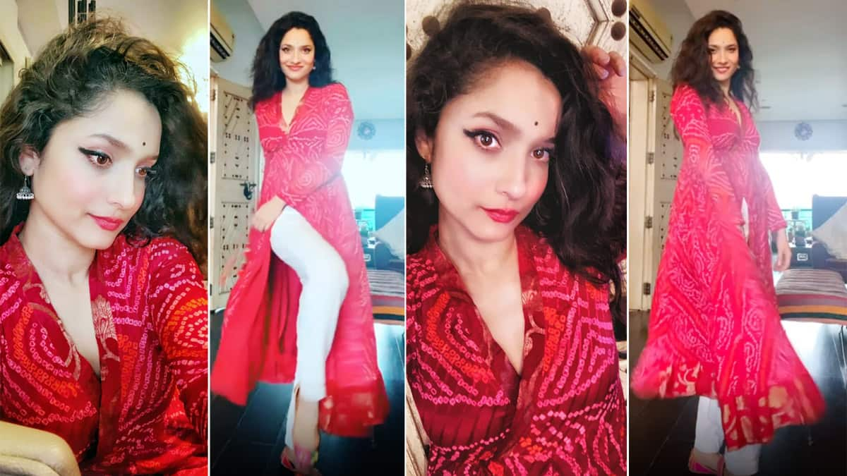 Ankita Lokhande Sends Out Happy Vibes Clad in Traditional Outfit