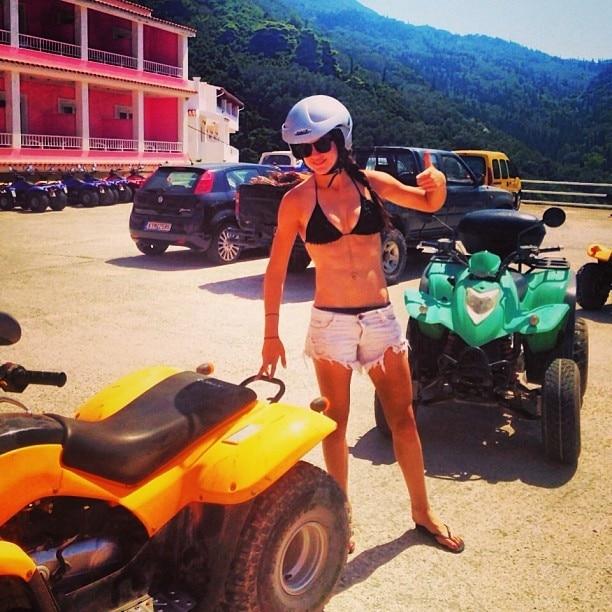 Anna Flanagan Takes to Quad Biking Like a Pro