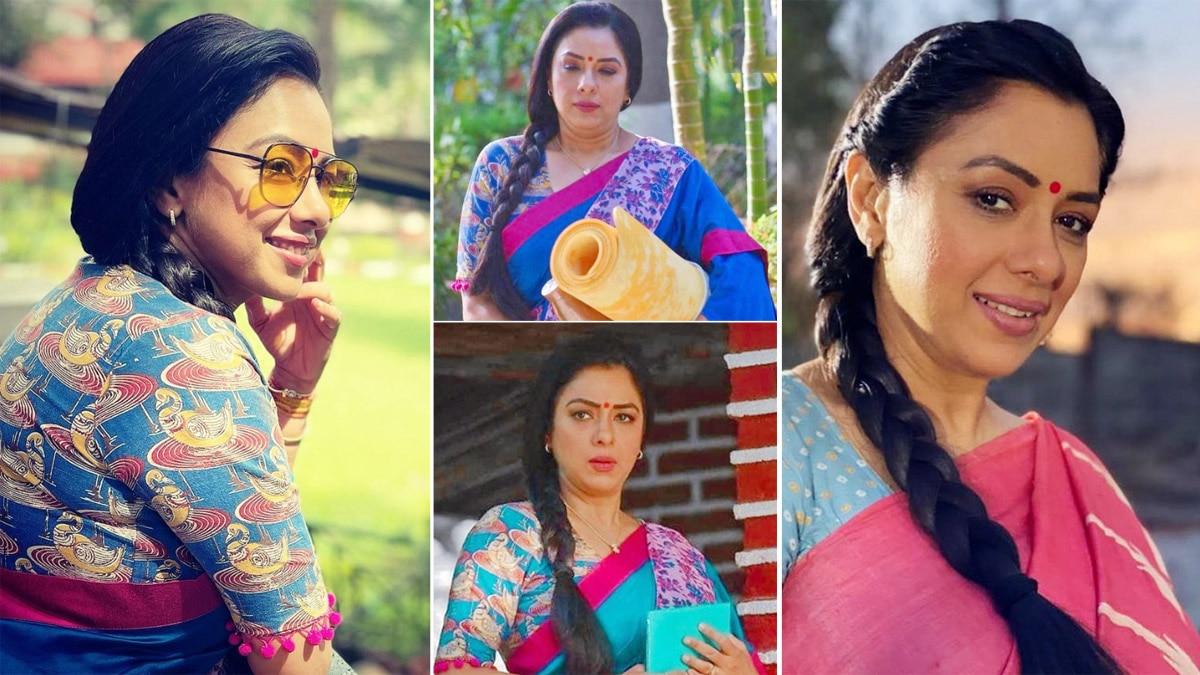 Anupama Fame Rupali Ganguly Aces Saree Game Like a Pro