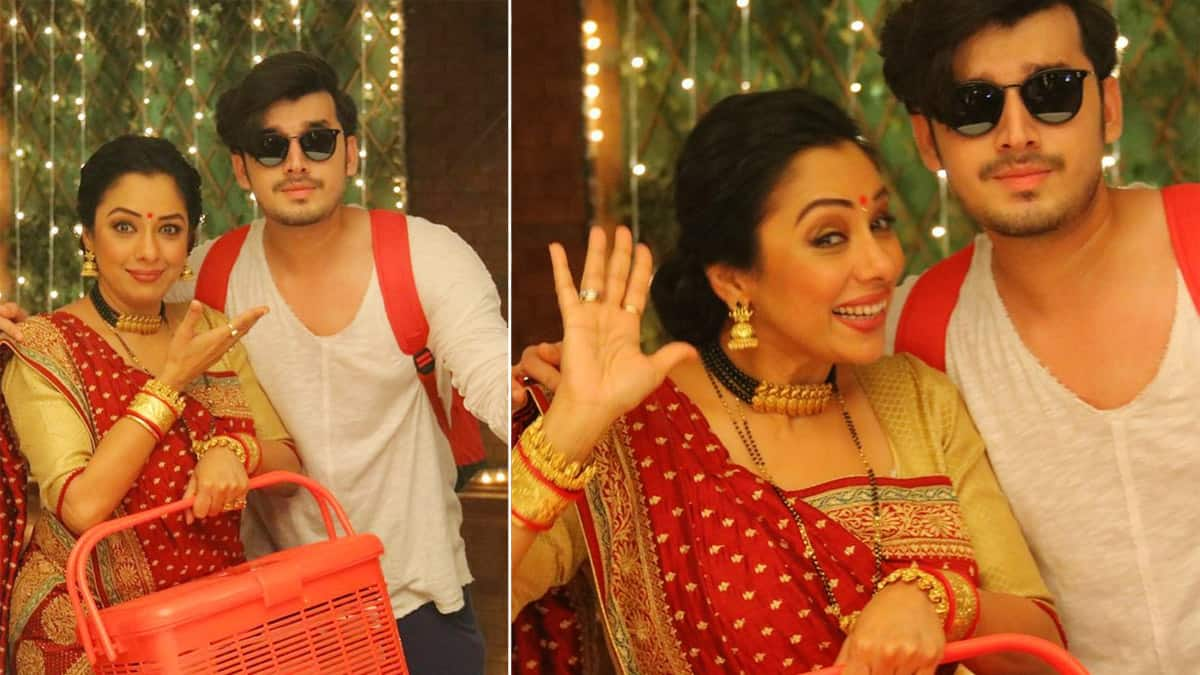 Anupama  Rupali Ganguly Shares BTS Pictures With Samar Aka Paras Kalnawat From Holi Special Episode