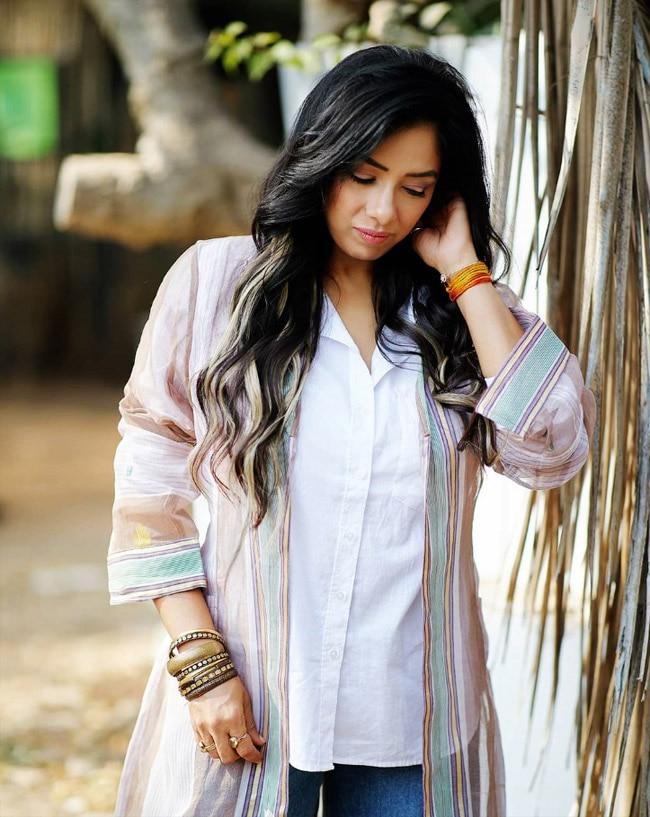 Anupama star Rupali Ganguly poses for the camera