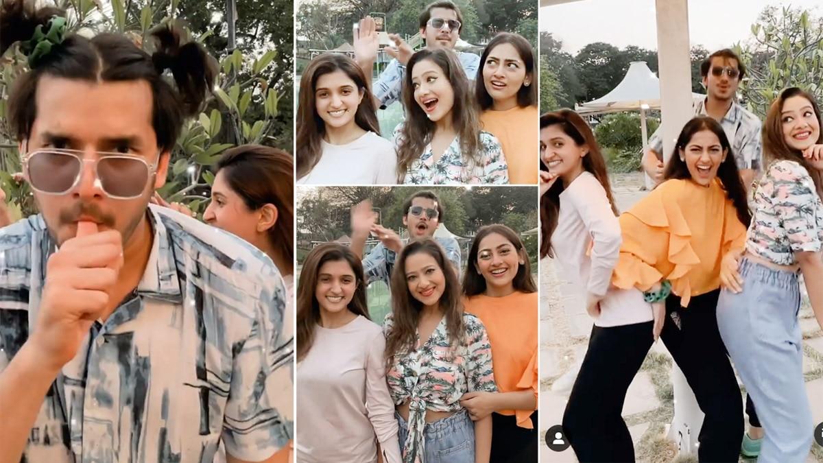 Anupamaa actors Paras  Anagha  Madalsa and Nidhi   s funny video goes viral