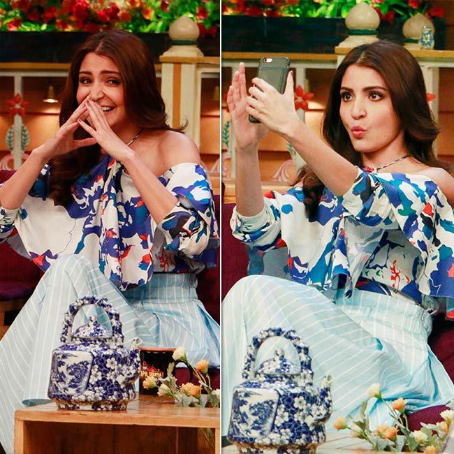 Anushka Sharma on sets of The Kapil Sharma Show
