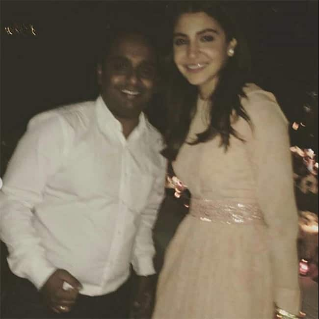 Anushka Sharma snapped at her post wedding party