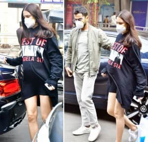 Anushka Sharma-Virat Kohli go Out For Lunch , Couple Expecting Baby This Month