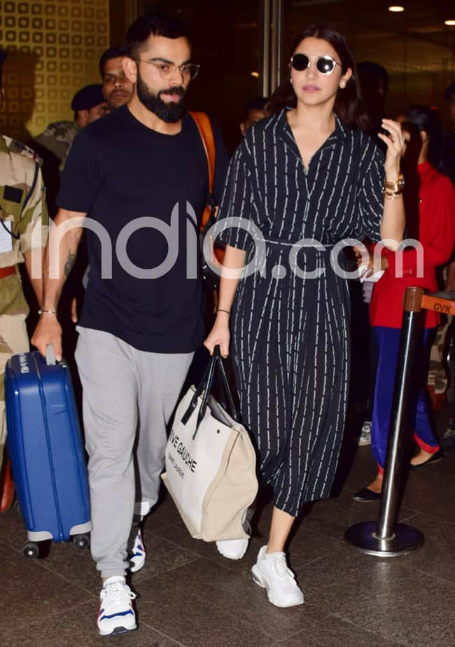 Anushka Sharma Virat Kohli Return to Mumbai After Their London Vacay