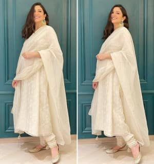 Anushka Sharma Glows in White as She Celebrates Diwali With Virat Kohli And Keeps it Low-Key