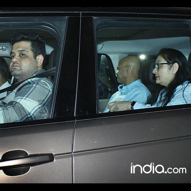 Anushka Sharma   s family clicked inside car