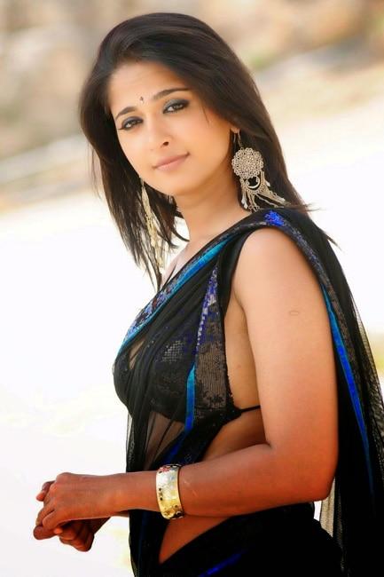 Anushka Shetty poses for a black hot picture