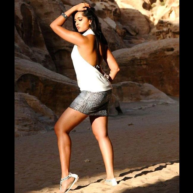 Anushka  Shetty posing for a steamy shoot