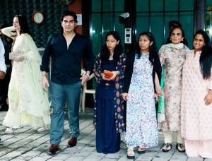 Arbaaz Khan With Girlfriend Giorgia Andriani at Arpita Khan's Residence For Rakhi Celebration
