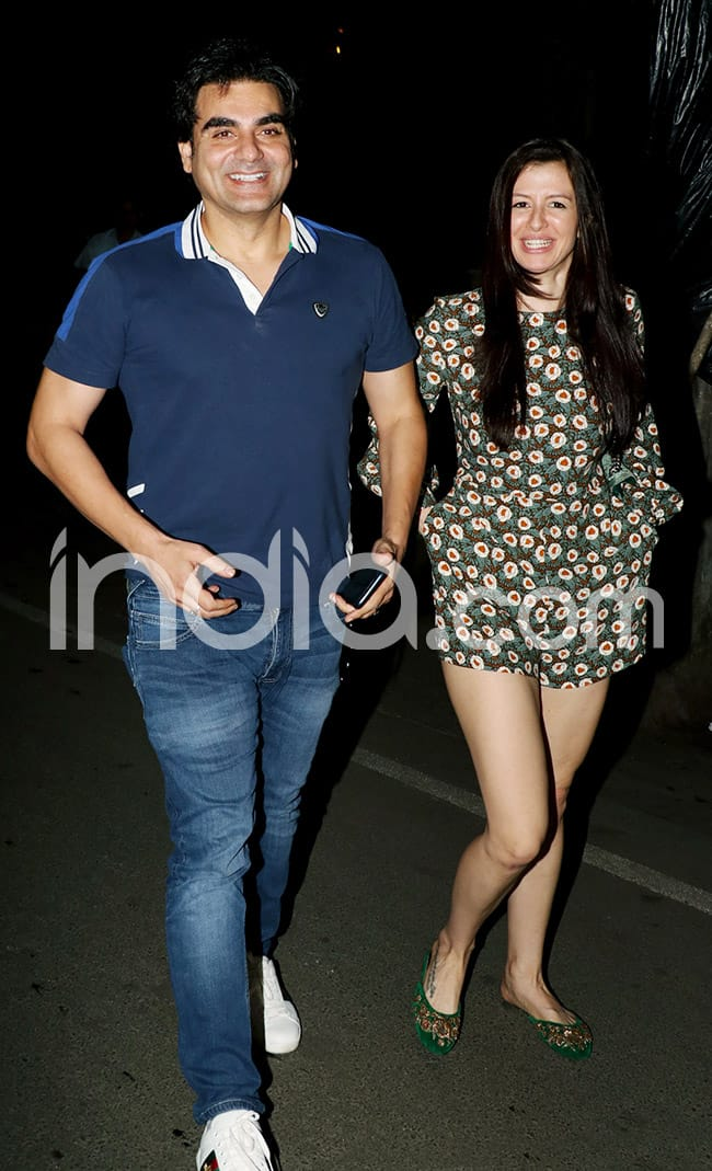 Arbaaz spotted with his rumoured lover Georgia Andriani