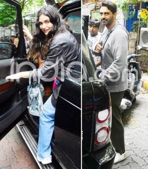 Arjun Rampal And Gabrielle Demetriades Clicked Amid Mumbai Rains