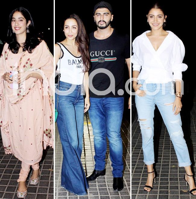 Arjun Kapoor hosts a screening for industry friends