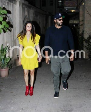 Malaika Arora Wears a Bright Yellow Dress And Red Boots as Arjun Kapoor Joins Her For Family Function