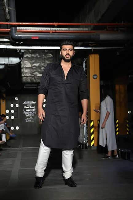Arjun Kapoor snapped during day 1 of Lakme Fashion Week 2017