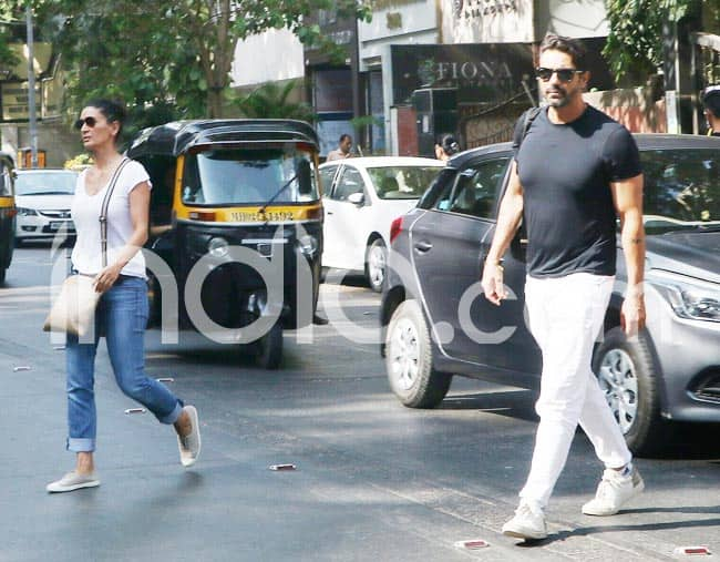 Arjun Rampal And ex wife Mehr Jesai Spotted in Mumbai