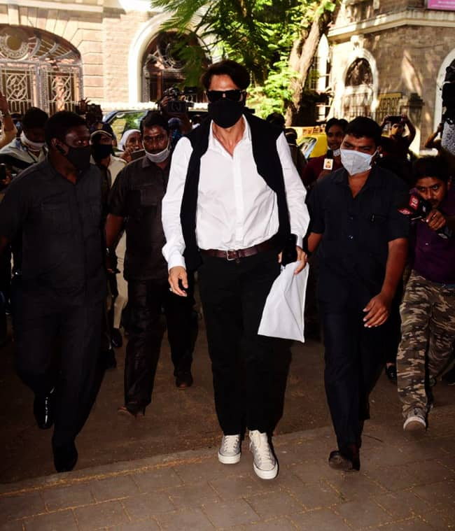 Arjun Rampal arrives at NCB office for questioning in drugs case