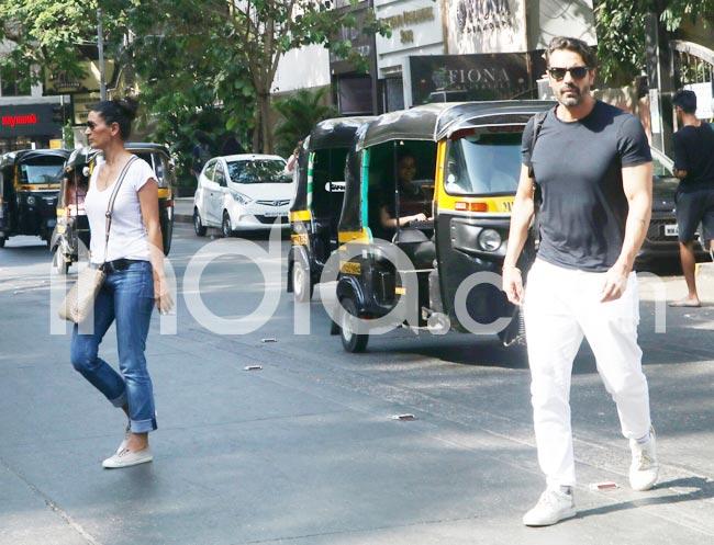 Arjun Rampal Spotted With Ex Wife Mehr Jesia in Mumbai