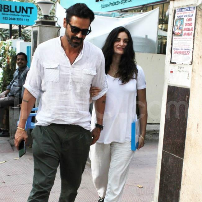 Arjun Rampal with girlfriend