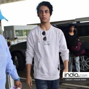 PICS: Aryan Khan looks suave as he heads to Kolkata for the KKR Vs Hyderabad semi-final